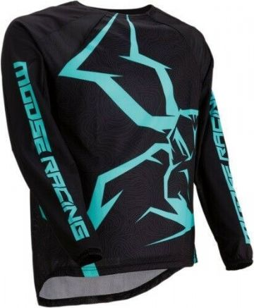 Moose Racing S9S M1 Agroid MX Motocross Off Road Jersey Black / Turquoise